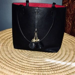 Faux leather tote purse